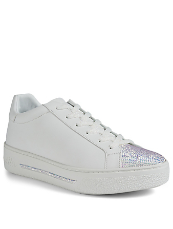 RENE CAOVILLA Xtra Double Crystal Sneakers Women's White