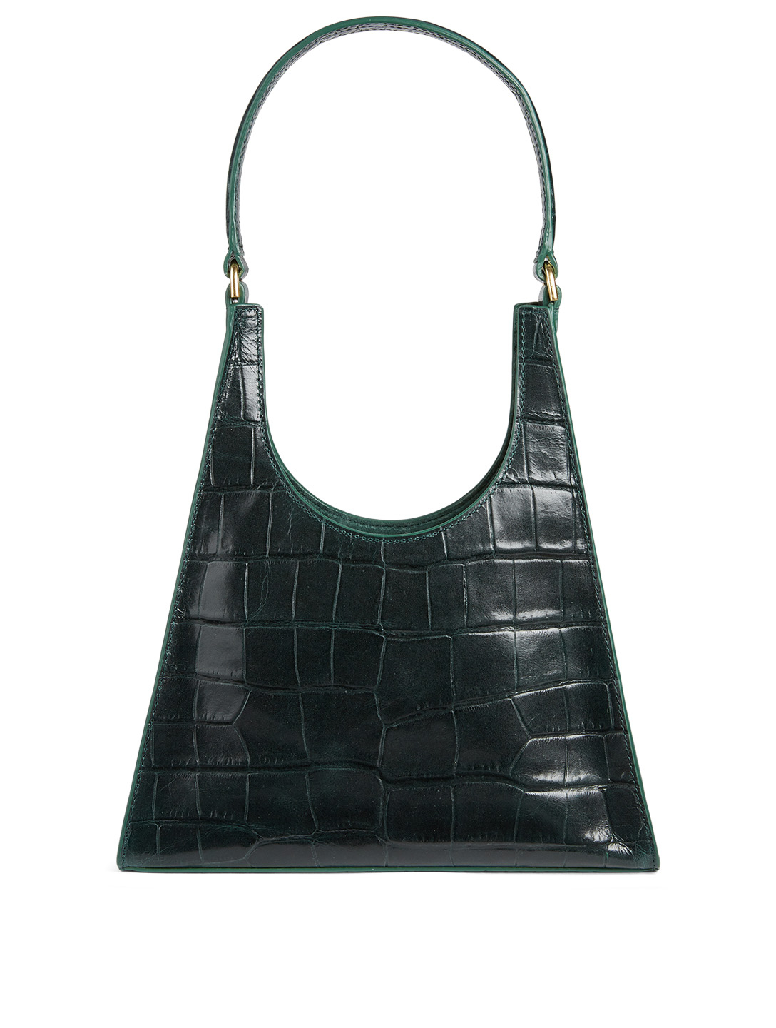 STAUD Small Rey Croc-Embossed Leather Bag Women's Green