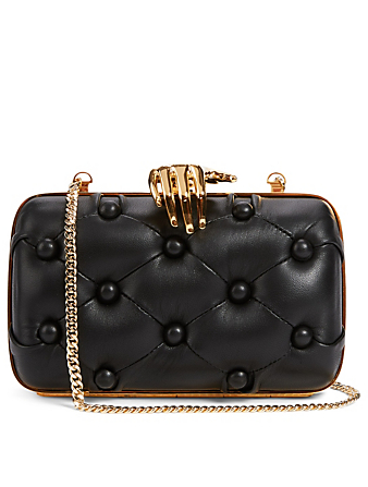 BENEDETTA BRUZZICHES Carmen Quilted Leather Clutch Bag With Hand Women's Black