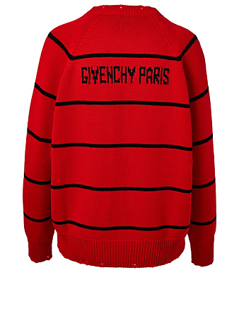 GIVENCHY Wool-Blend 4G Sweater In Stripe Pint Women's Red