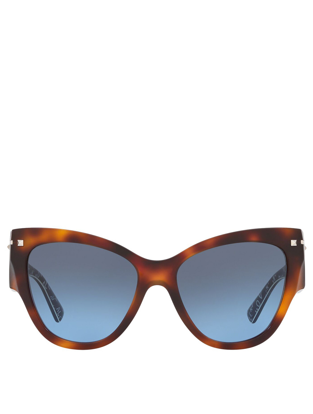 VALENTINO Cat Eye Sunglasses Women's Brown