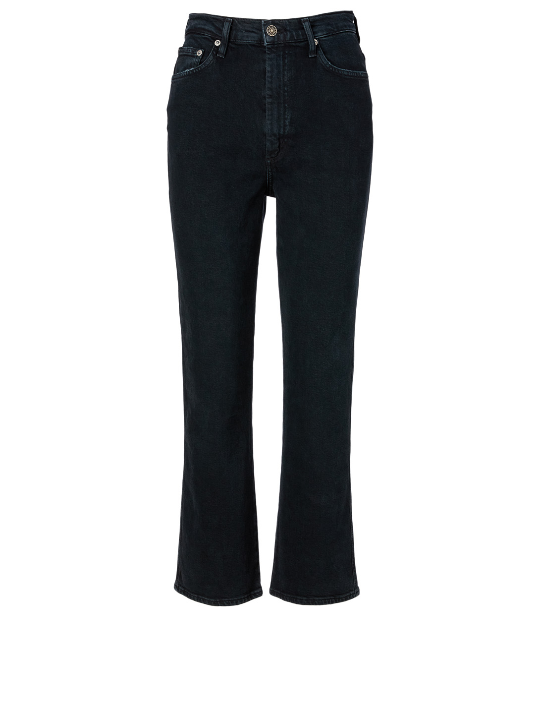 AGOLDE Pinch Waist High-Waisted Jeans Women's Black