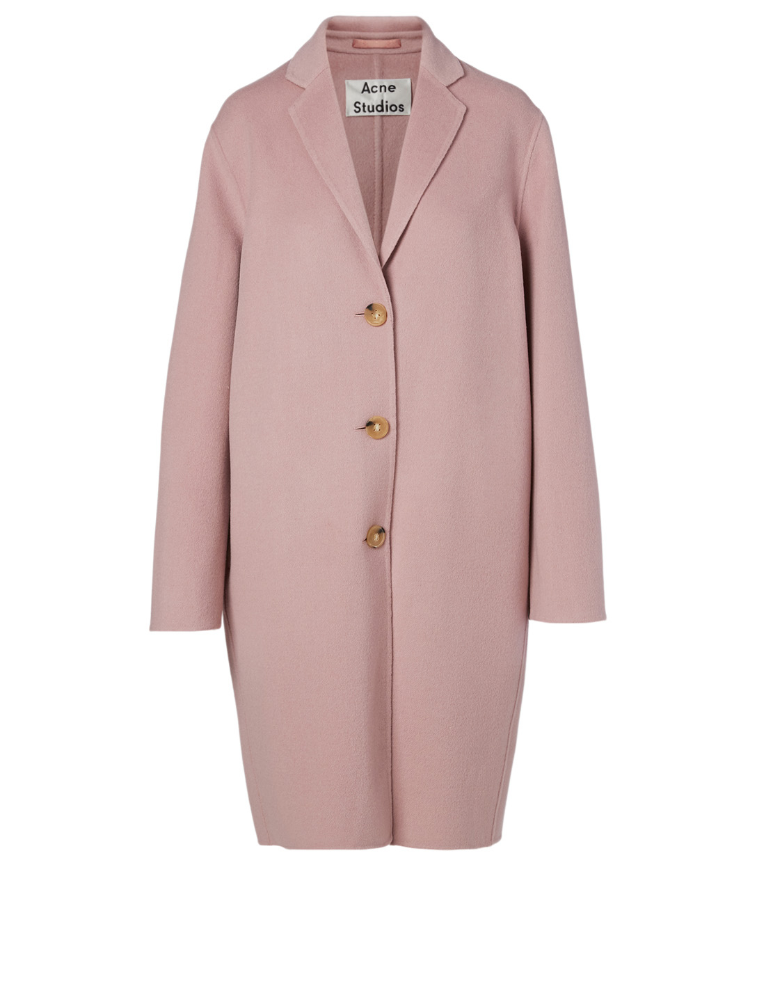 ACNE STUDIOS Wool And Cashmere Long Coat Women's Pink