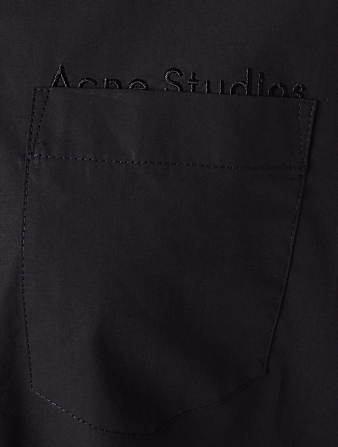 ACNE STUDIOS Cotton Logo Shirt Women's Black