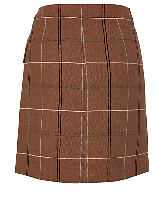 ACNE STUDIOS Wool-Blend Wrap Skirt Women's Brown