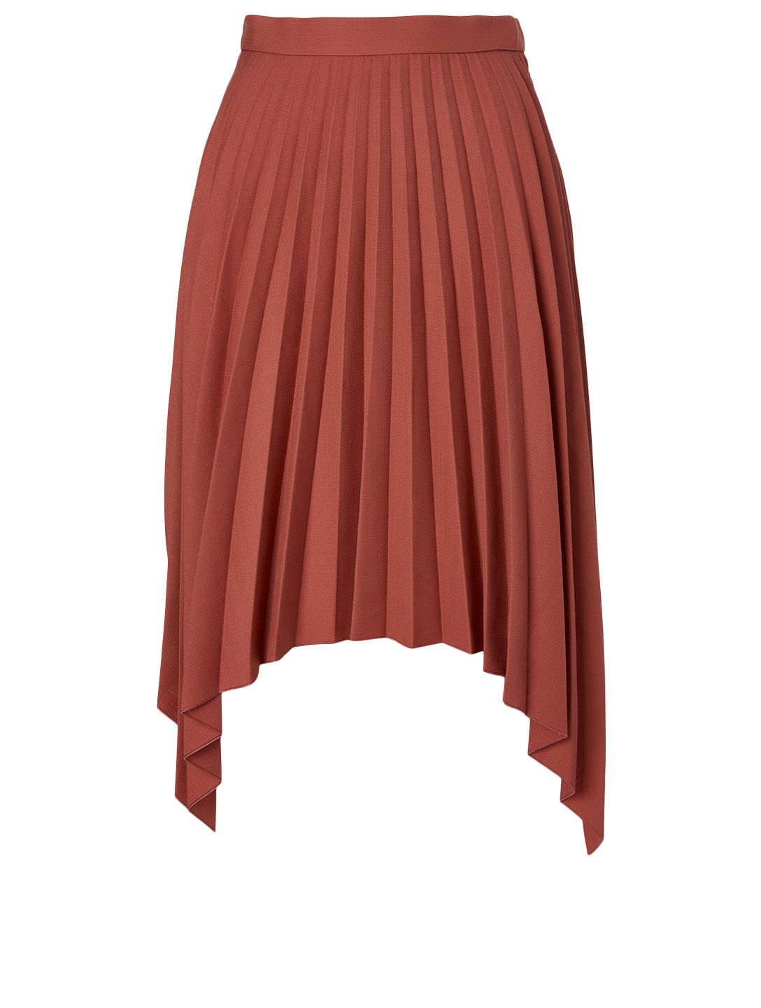 ACNE STUDIOS Wool-Blend Pleated Skirt Women's Red
