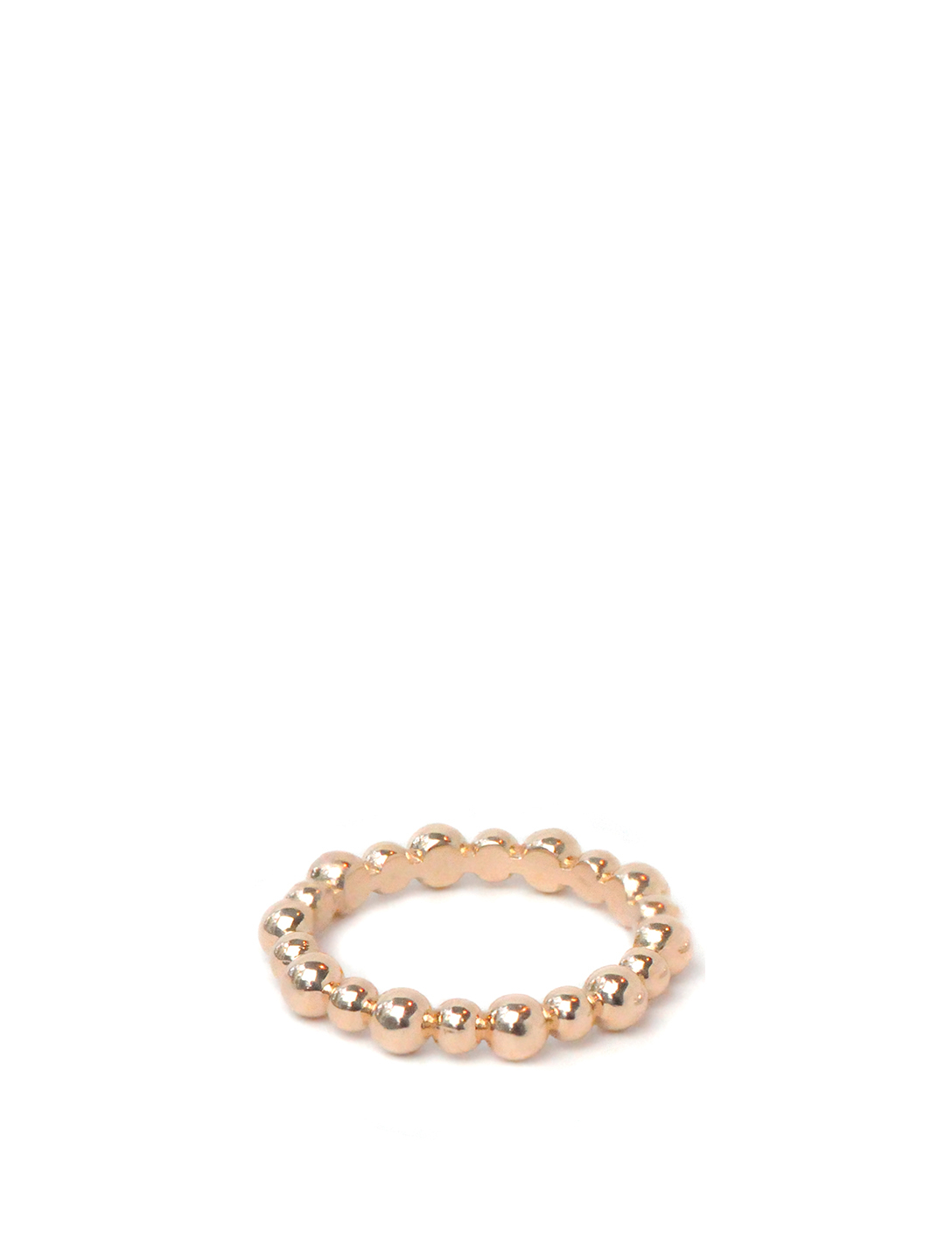 ANZIE Dew Drop 14K Rose Gold Band Women's Pink