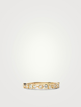 ANZIE Cléo 14K Gold Geometric Stackable Ring With Diamonds Women's Metallic