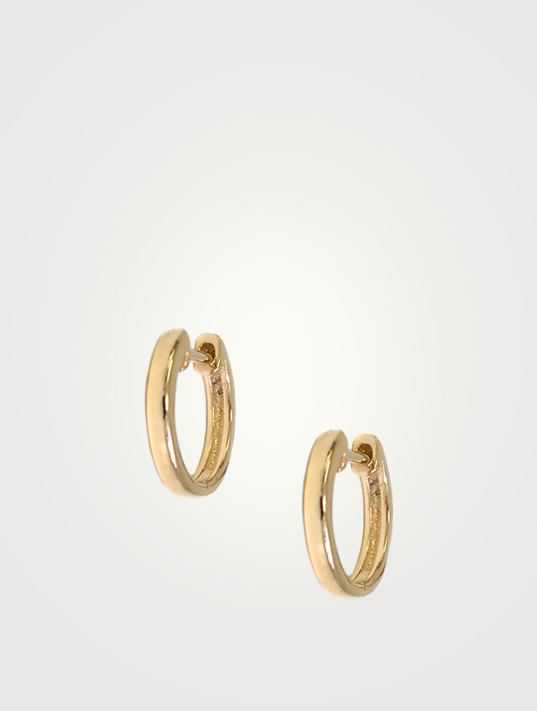 ANZIE Mini Cléo 14K Gold Huggie Hoop Earrings Women's Metallic