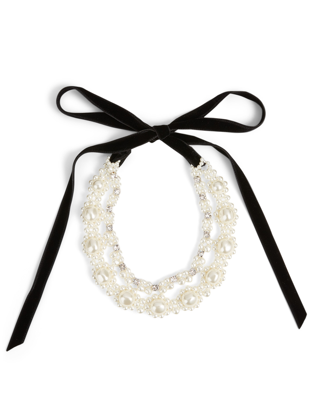Simone Rocha Double Baroque Faux Pearl And Crystal Necklace