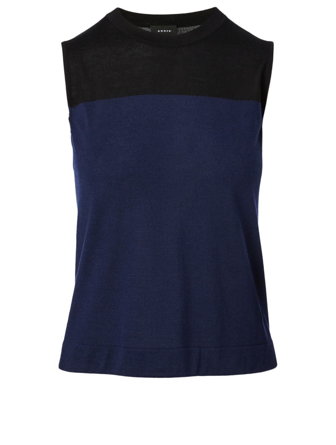 AKRIS Cashmere And Silk Sleeveless Sweater Women's Blue