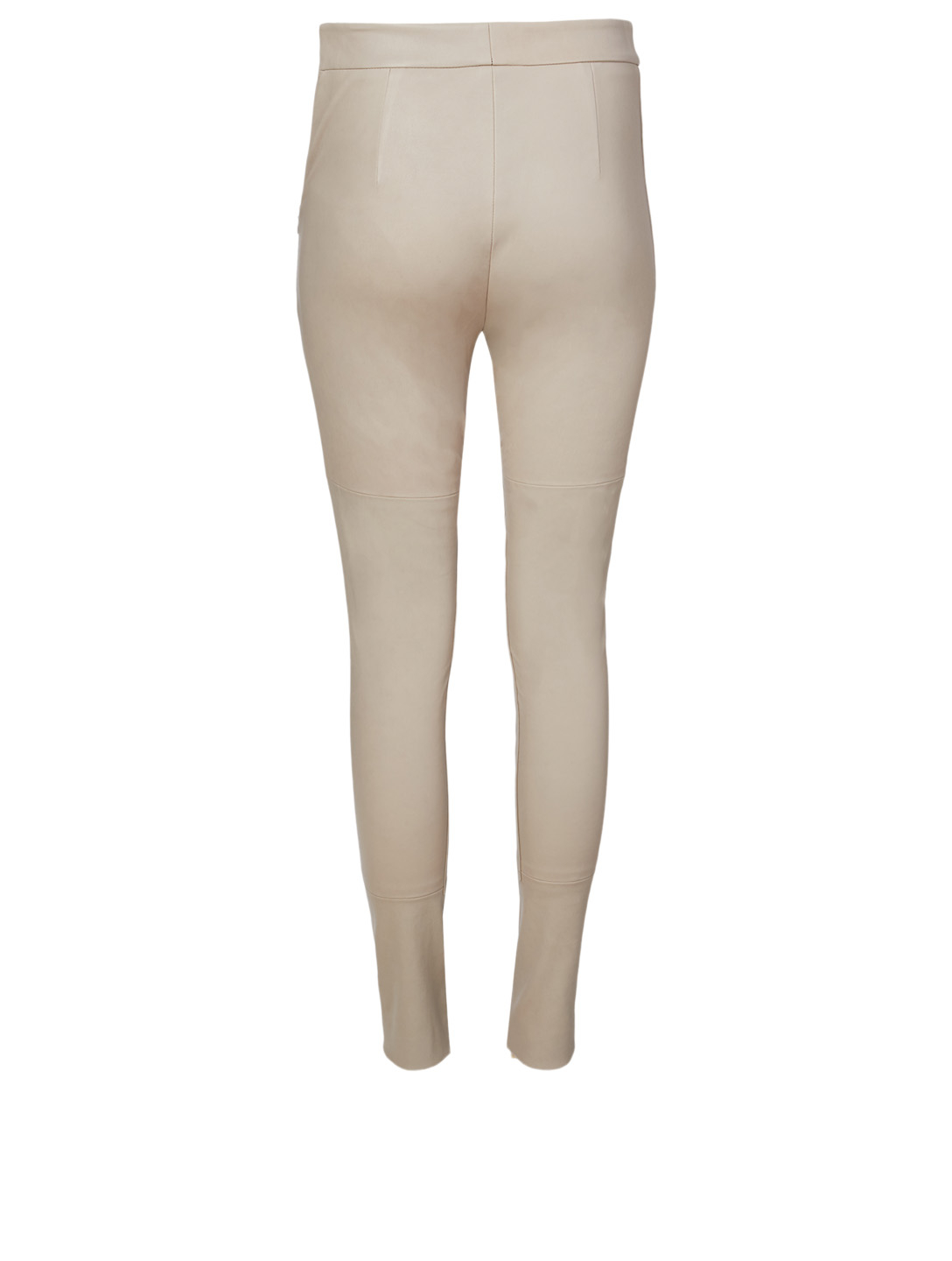 AKRIS Fia Leather Pants Women's Beige