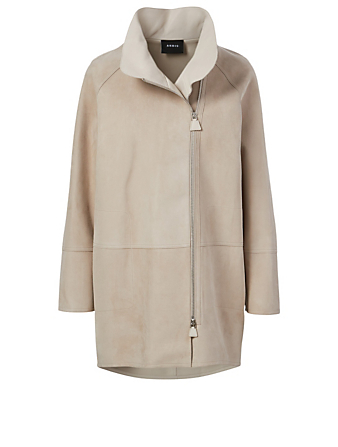 AKRIS Fairy Suede Jacket Women's Beige
