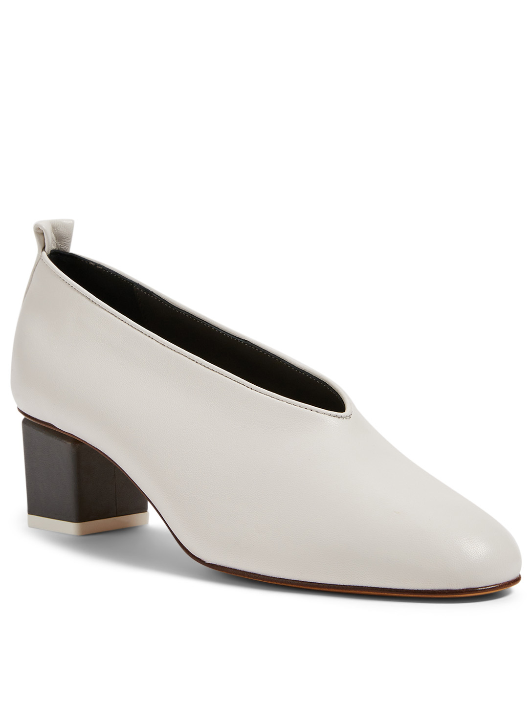 GRAY MATTERS Mildred Leather Pumps Women's White