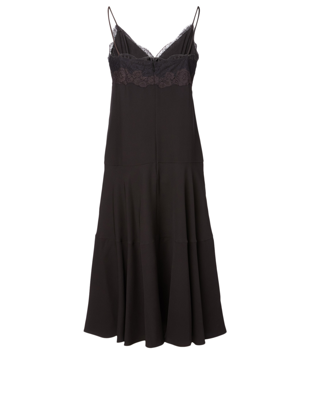 VALENTINO Silk Midi Dress Women's Black