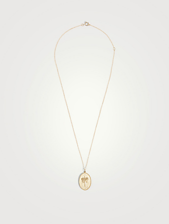 ZAHAVA Date Palm  10K Gold Pendant Necklace With Diamonds - 18