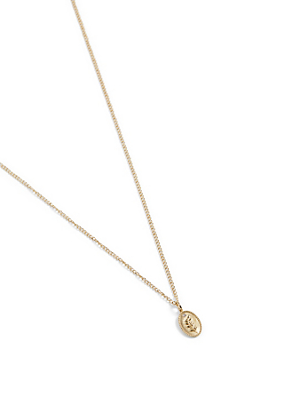 ZAHAVA Olive Branch 10K Gold Diamond Pendant Necklace - 24