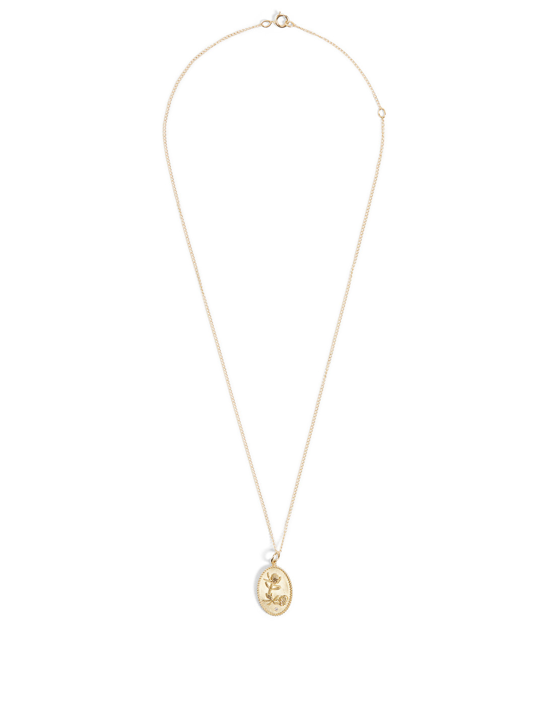 ZAHAVA Protea 10K Gold Diamond Pendant Necklace - 18