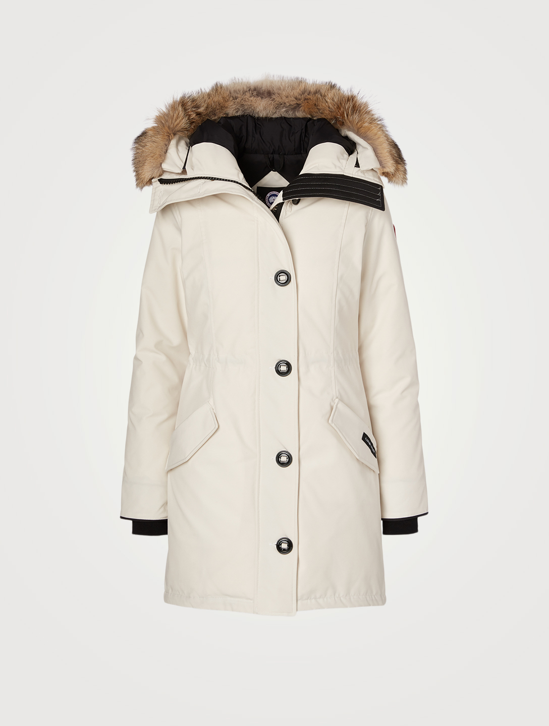 CANADA GOOSE Rossclair Down Parka With Fur Hood Women's White