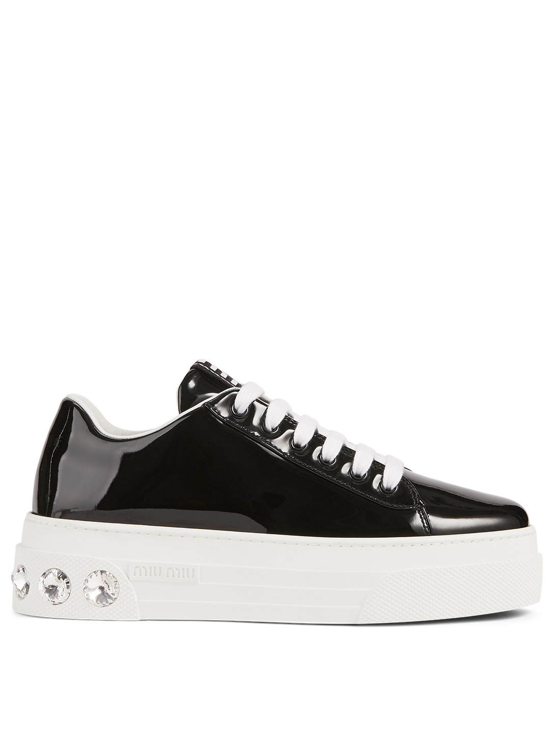 Patent Leather Crystal Platform Sneakers by Holt Renfrew