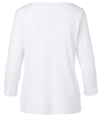 KOTN Egyptian Cotton  Boat Neck Top H Project White