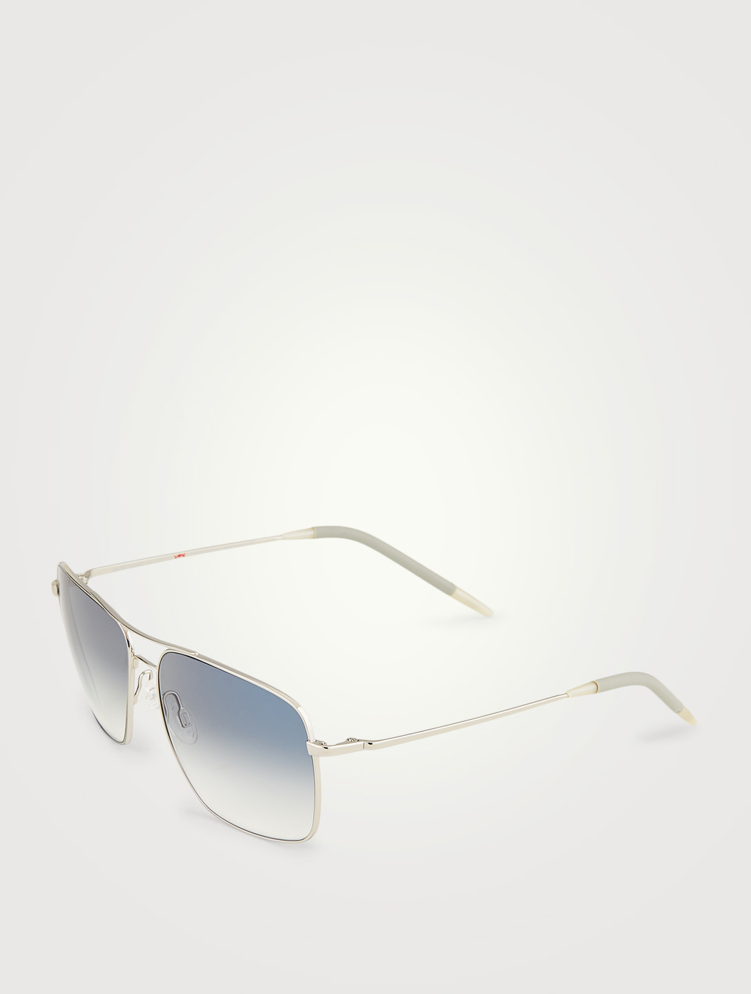 OLIVER PEOPLES Clifton Square Aviator Sunglasses Men's Metallic