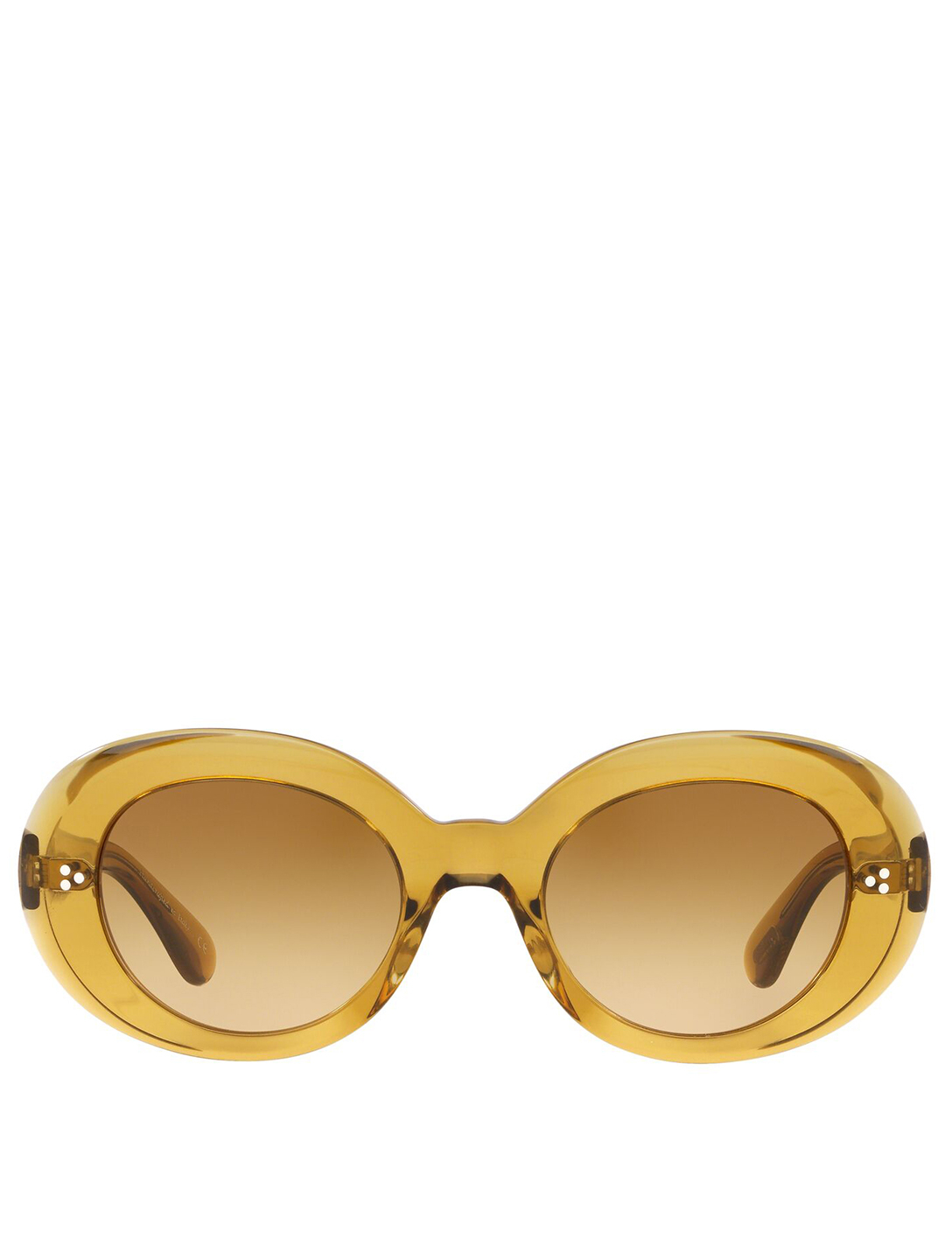 OLIVER PEOPLES Erissa Round Sunglasses Women's Yellow
