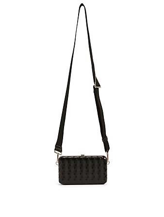 BOTTEGA VENETA Intrecciato Leather Crossbody Bag Men's Black