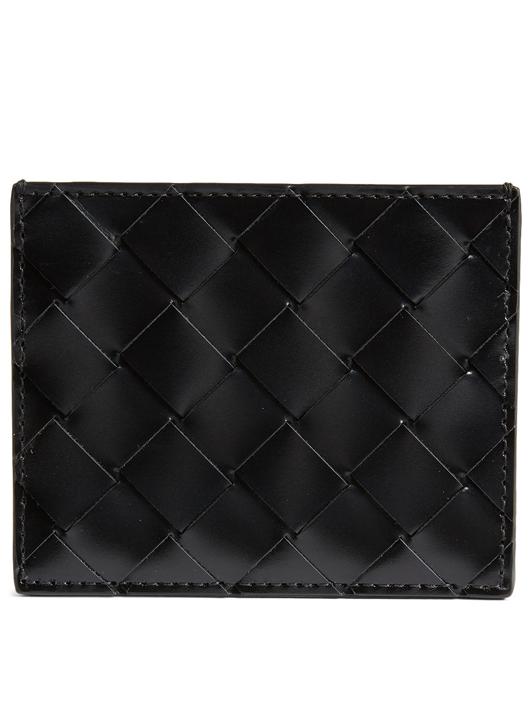 BOTTEGA VENETA Intrecciato Leather Card Holder Men's Black