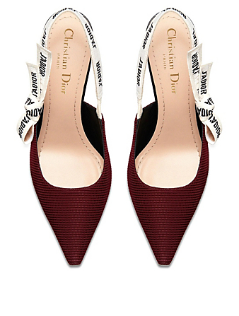 DIOR J'Adior Technical Fabric Slingback Pumps Women's Red