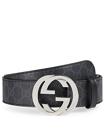 GUCCI GG Supreme Belt With G Buckle Men's Black