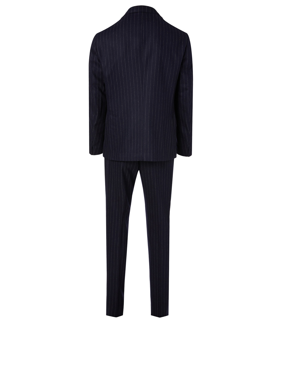ELEVENTY Wool And Cashmere Two-Piece Suit In Pinstripe Print Men's Blue