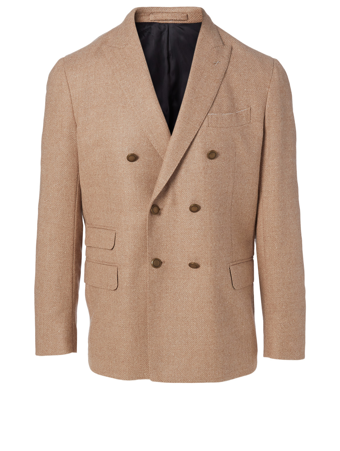 ELEVENTY Wool And Silk Double-Breasted Blazer Men's Brown