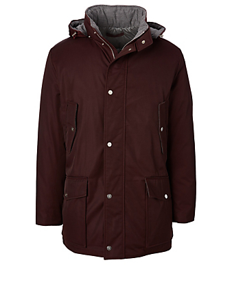 ELEVENTY Technical Parka With Hood Men's Red