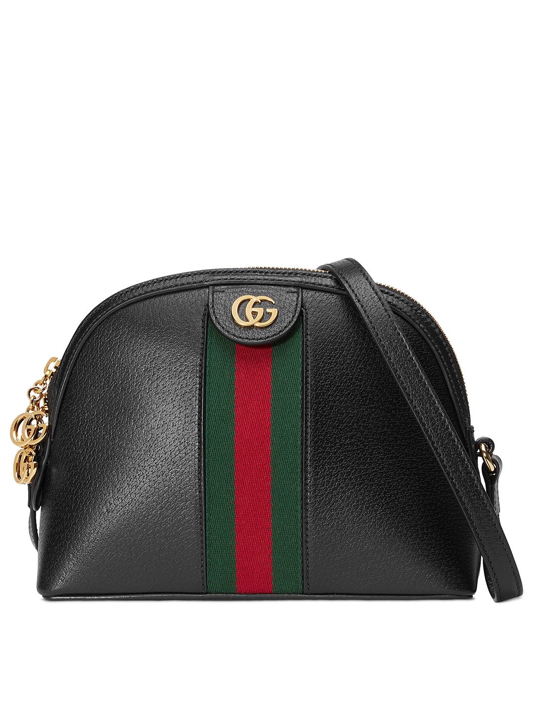 GUCCI Small Ophidia Leather Shoulder Bag Women's Black
