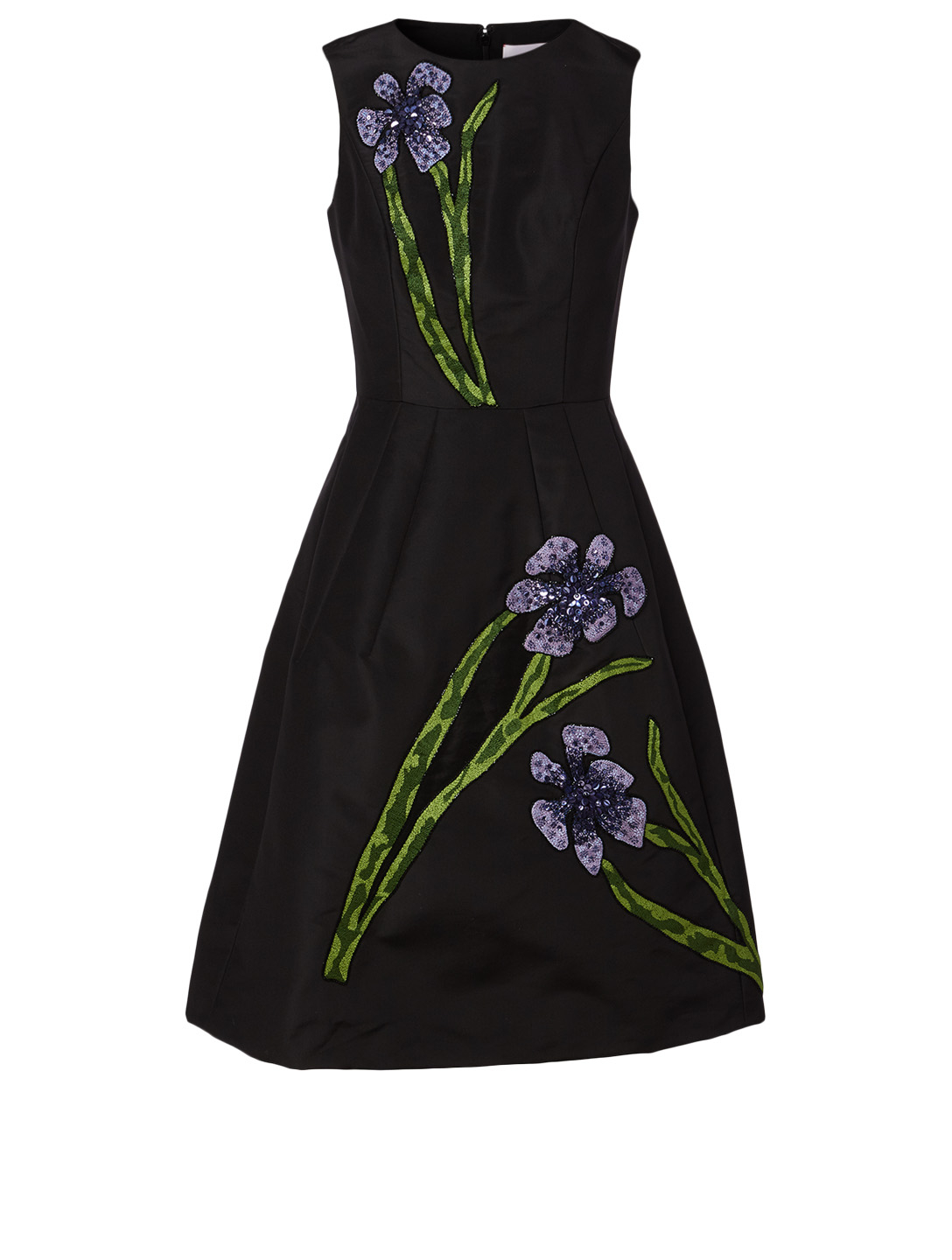 CAROLINA HERRERA Silk Sleeveless Dress Women's Black