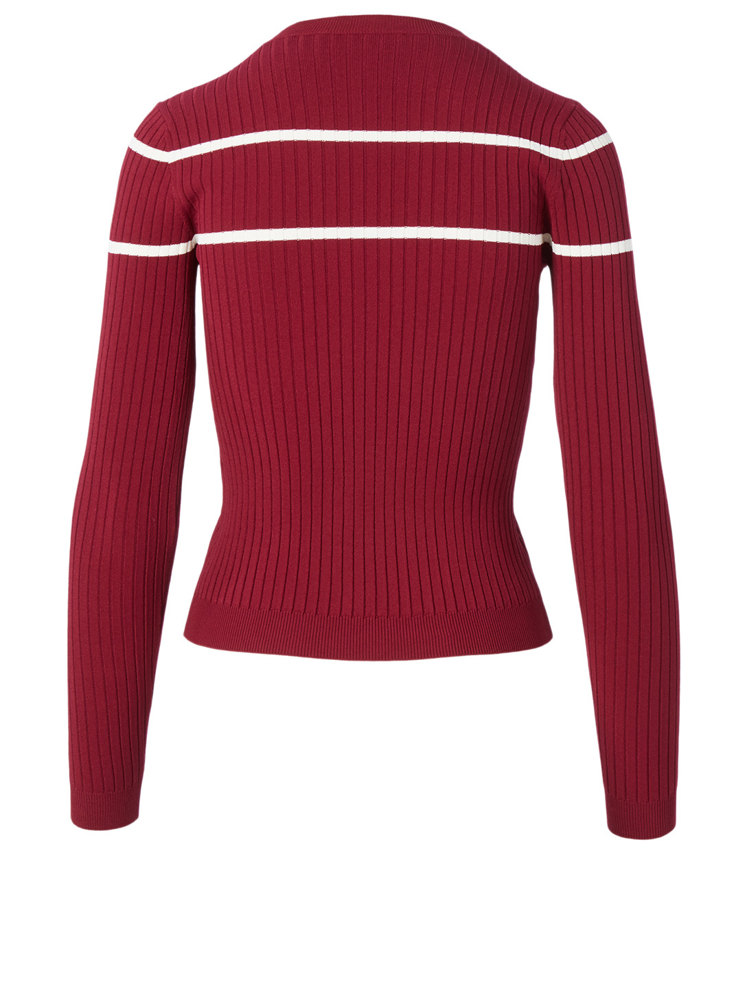 VALENTINO Long-Sleeve Top With V-Inlay Women's Red