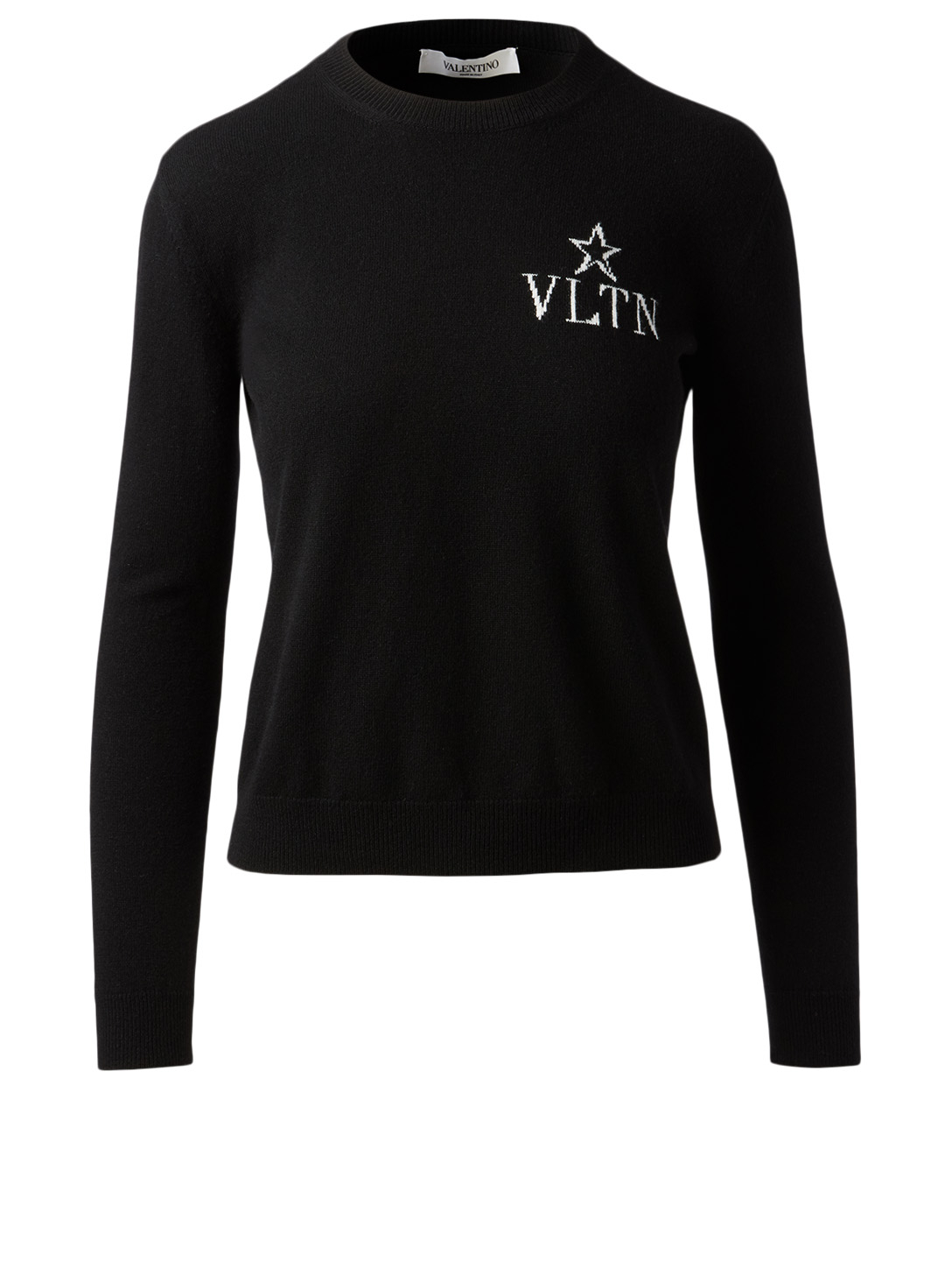 VALENTINO VLTNSTAR Wool And Cashmere Inlaid Sweater Women's Black