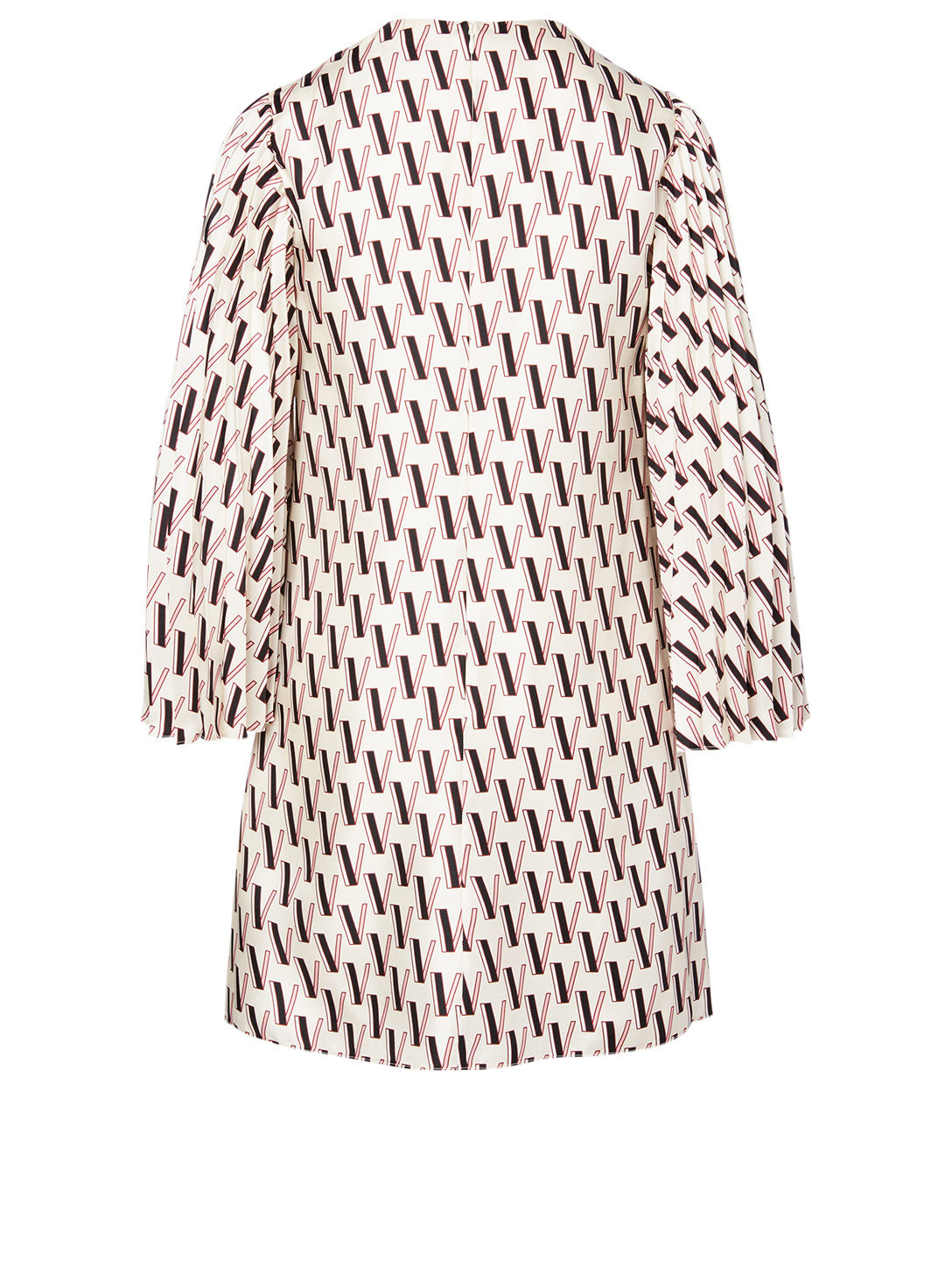 VALENTINO Silk Printed Dress Women's White