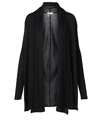 THE ROW Knightsbridge Jersey Cardigan Women's Black