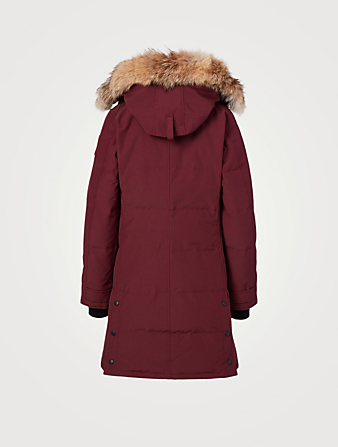 CANADA GOOSE Shelburne Down Parka With Fur Hood Women's Red