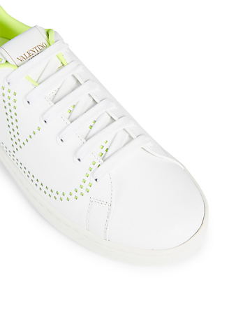 VALENTINO GARAVANI Backnet Leather Sneakers Women's Yellow