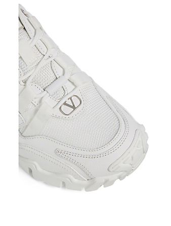 VALENTINO GARAVANI Climber Fabric And Leather Sneakers Women's White