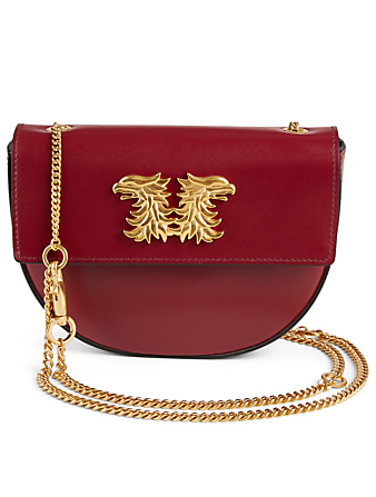 VALENTINO GARAVANI Mini Gryphon Leather Shoulder Bag Women's Red
