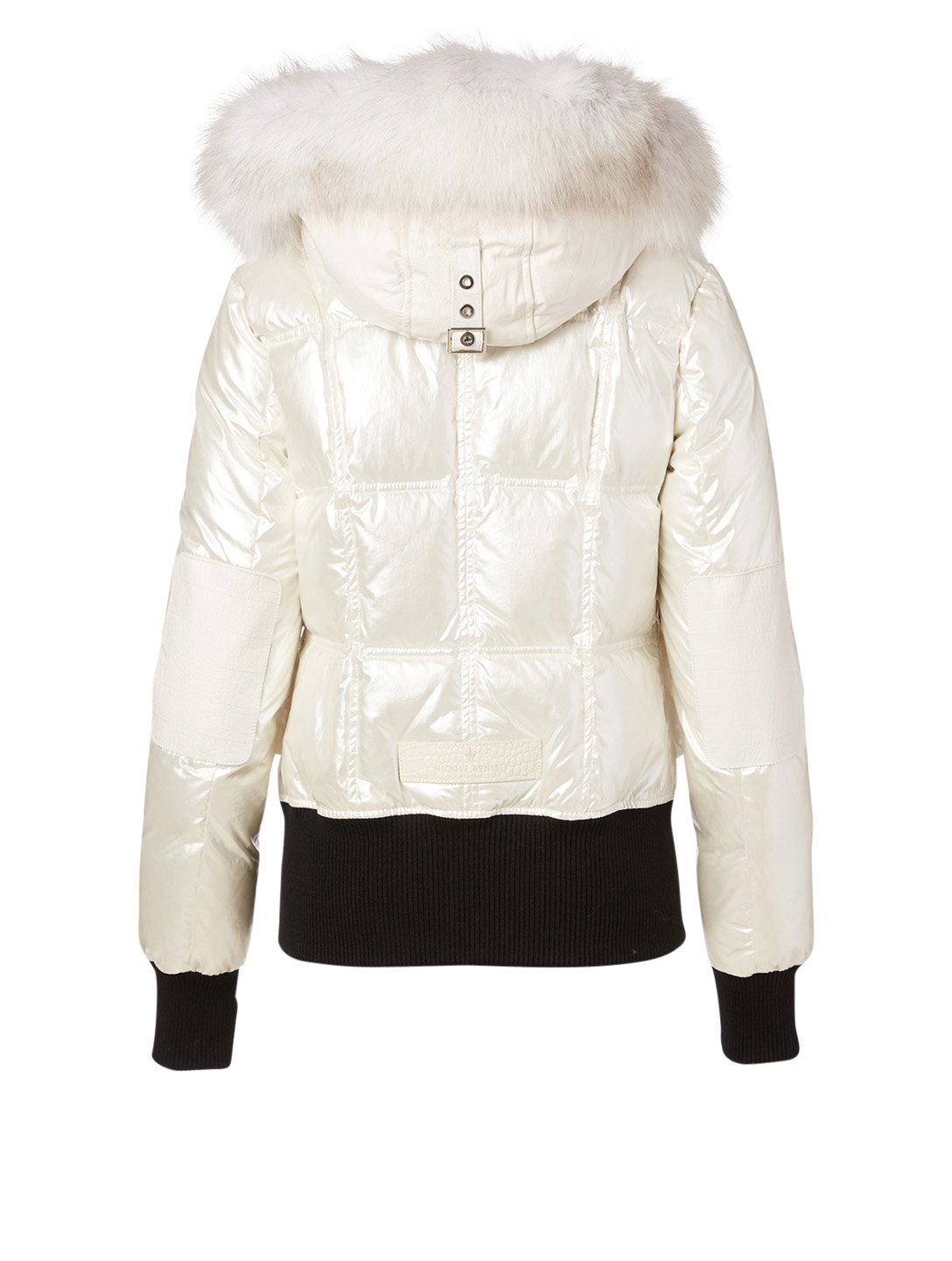 NICOLE BENISTI Fordham Down Bomber Jacket With Fur Hood Women's White