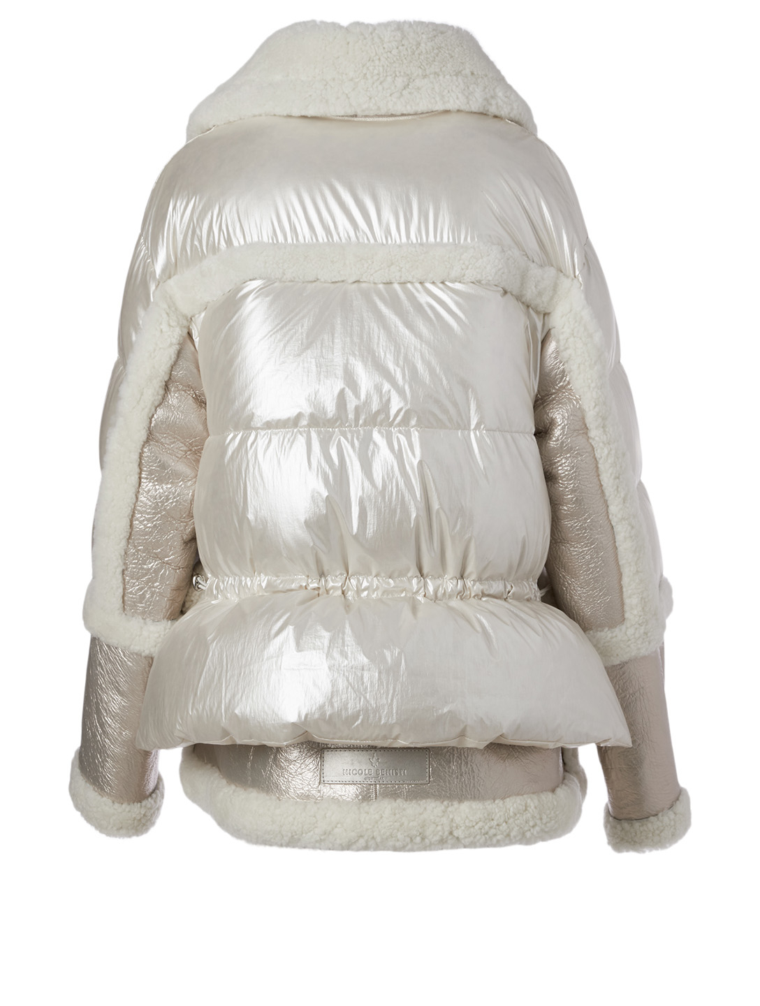 NICOLE BENISTI Montaigne Shearling Down Puffer Jacket Women's White