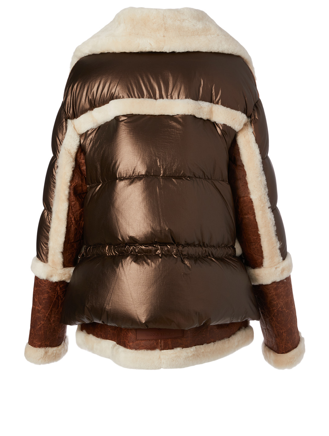 NICOLE BENISTI Montaigne Shearling Down Puffer Jacket Women's Brown