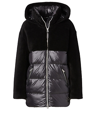 MACKAGE Junia Teddy Down Jacket Women's Black