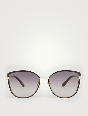 GUCCI Cat Eye Sunglasses Women's Black