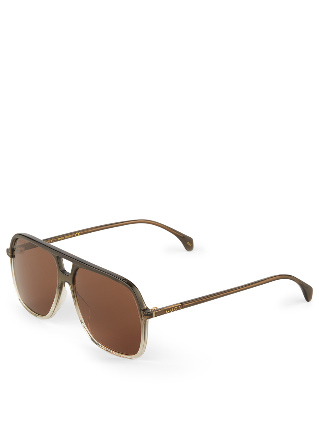 GUCCI Aviator Sunglasses Men's Green